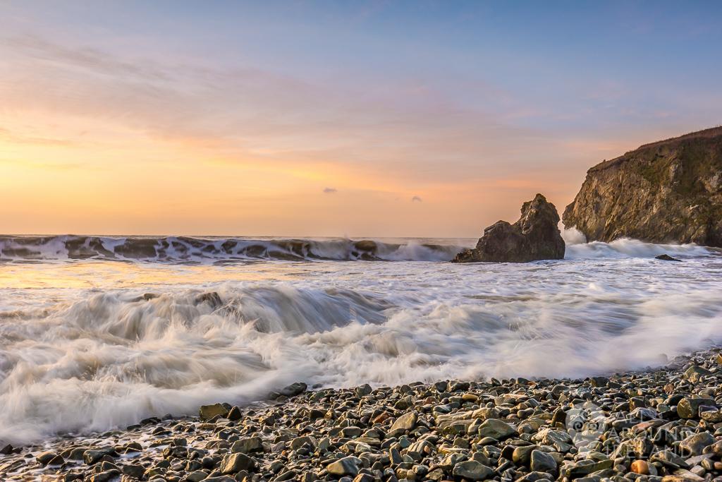 Sunrise at Bunmahon Beach on the Copper Coast