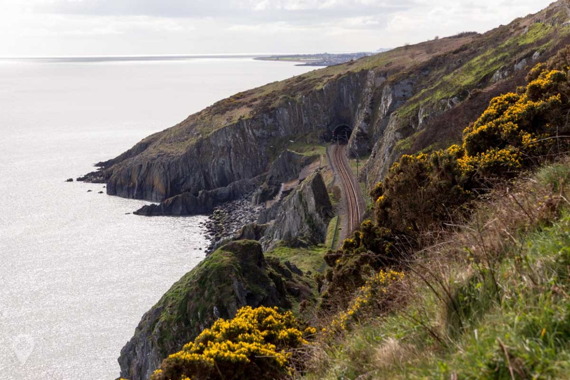 One of the many tunnels through the cliffs on the Bray to Greystones cliff walk