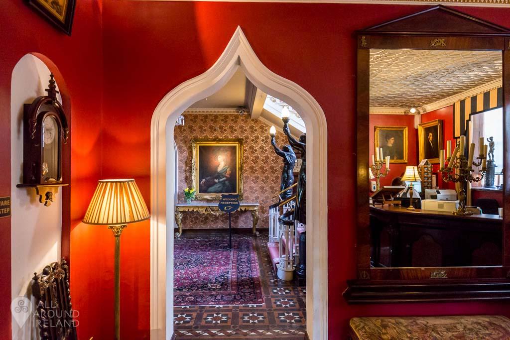 Reception area at Cabra Castle Hotel, Cavan, Ireland