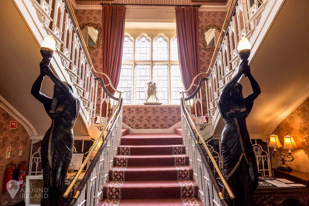 Looking towards the main staircase at Cabra Castle, Cavan, Ireland.