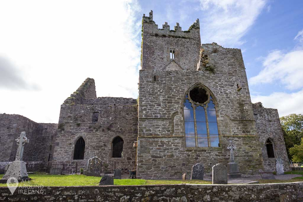 Approaching the entrance to Jerpoint Abbey in Kilkenny, Ireland.