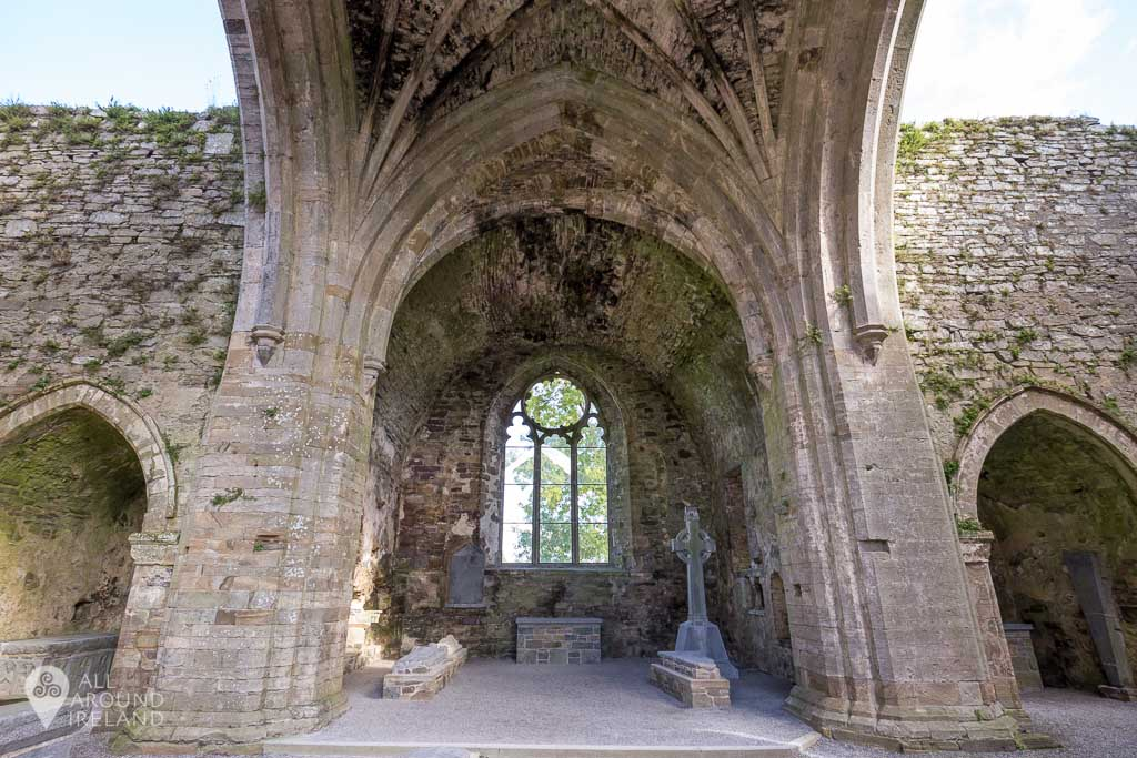 Transept chapel at Jerpoint Abbey in Kilkenny, Ireland