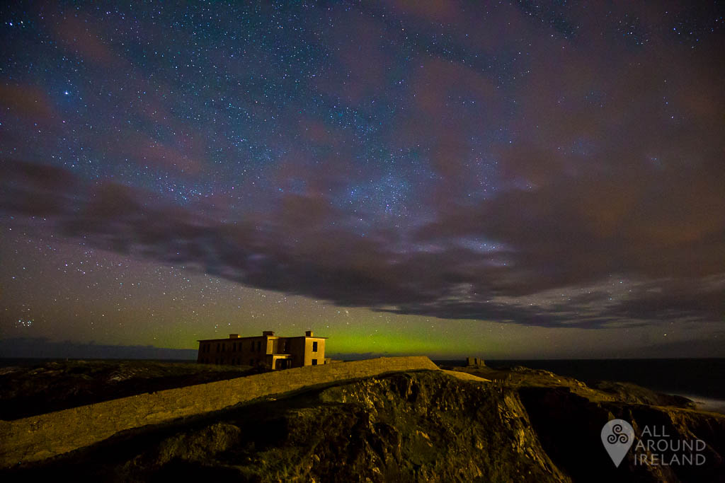 A glimpse of the Northern Lights at Fanad Head, Donegal