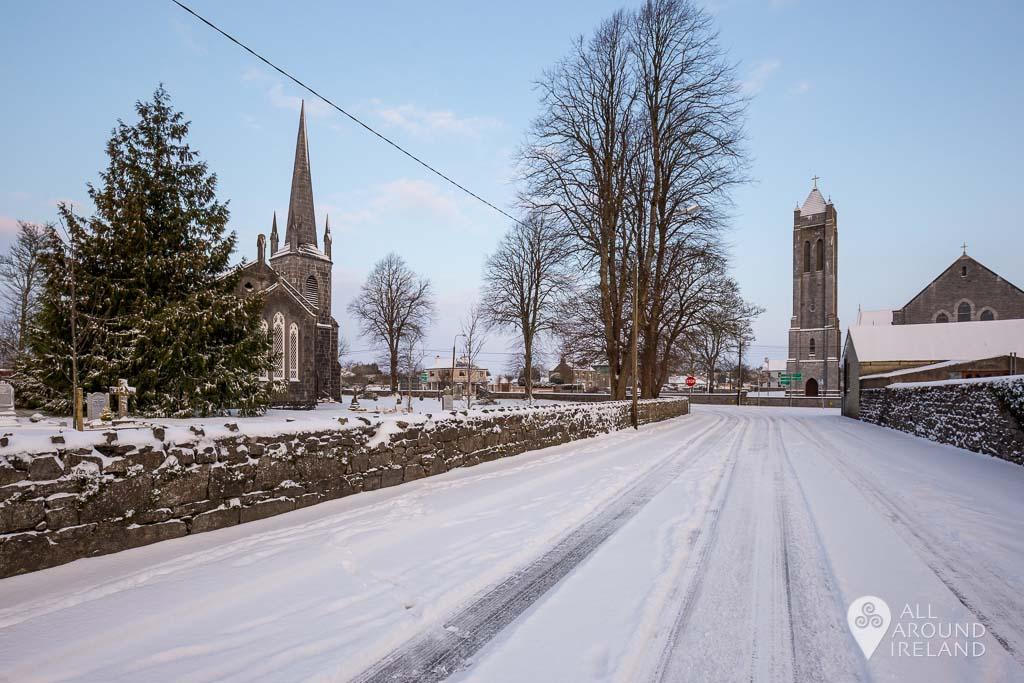 Castle Avenue looking towards Christ Church and St Bridgid's Church