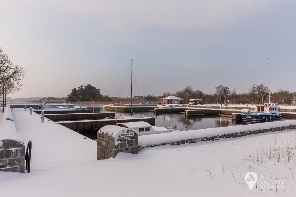 Snow covering Portumna Marina