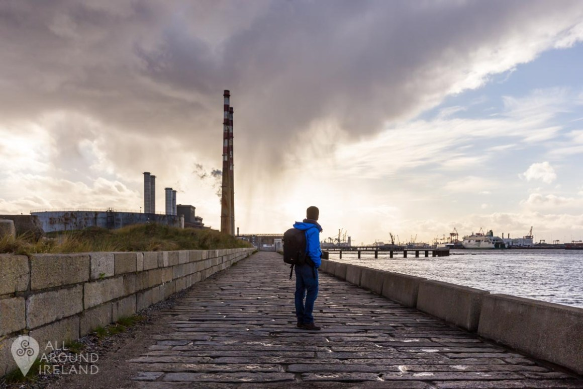 Looking back at the Poolbeg Chimneys