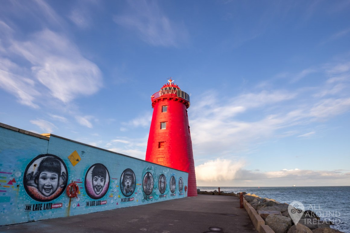 Late Late Toy Show Mural on the wall by the lighthouse