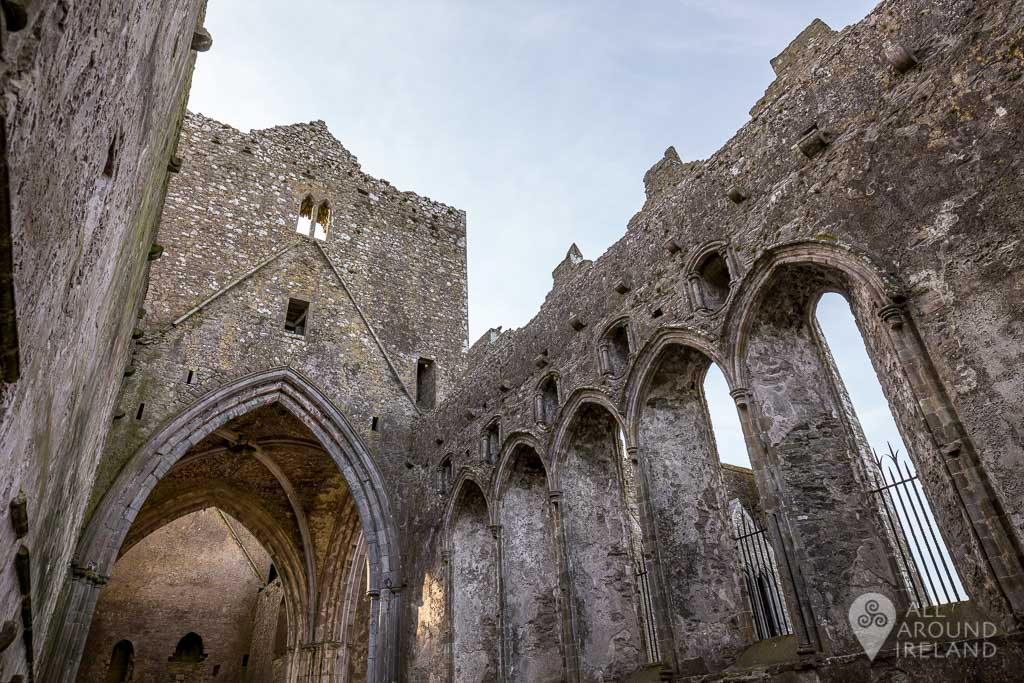 Exploring inside the Rock of Cashel,