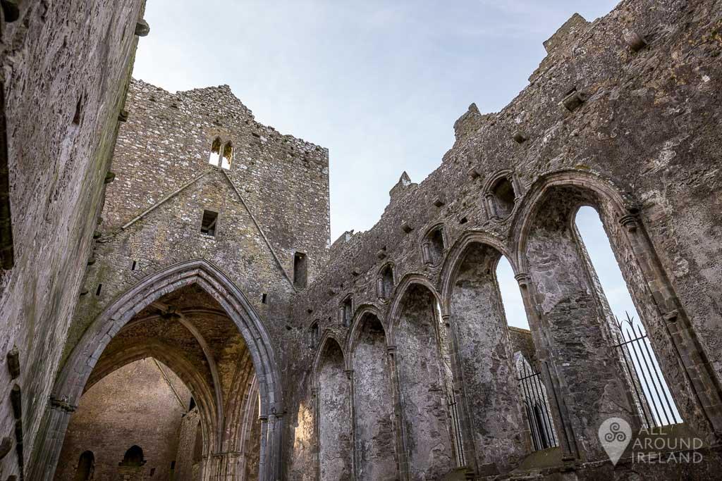 Exploring inside the Rock of Cashel,