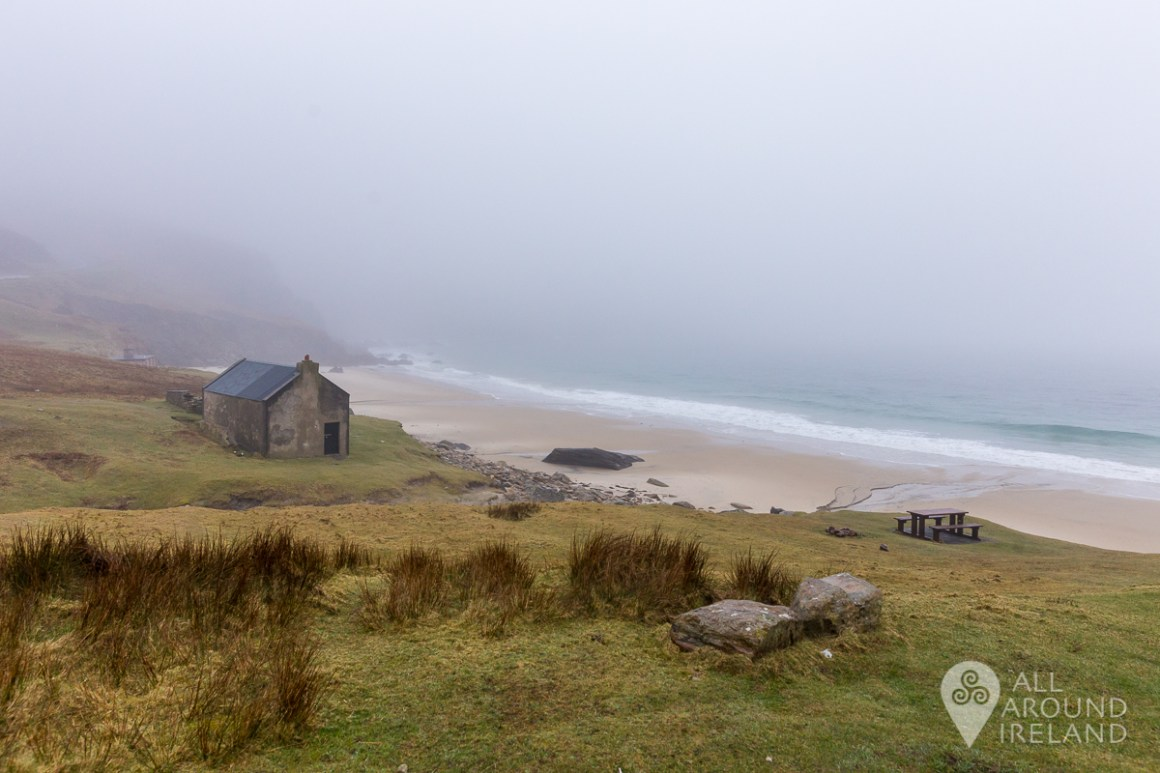 Keem Bay on Achill Island shrouded in mist