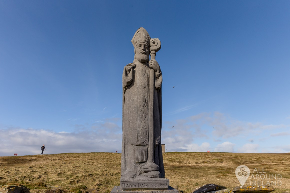 Statue of St Patrick at Downpatrick Head