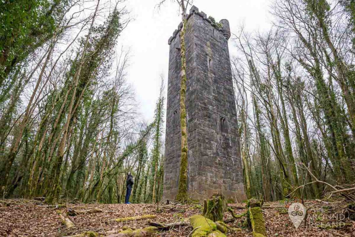 The Guinness Tower, hidden amongst the trees in Cong.