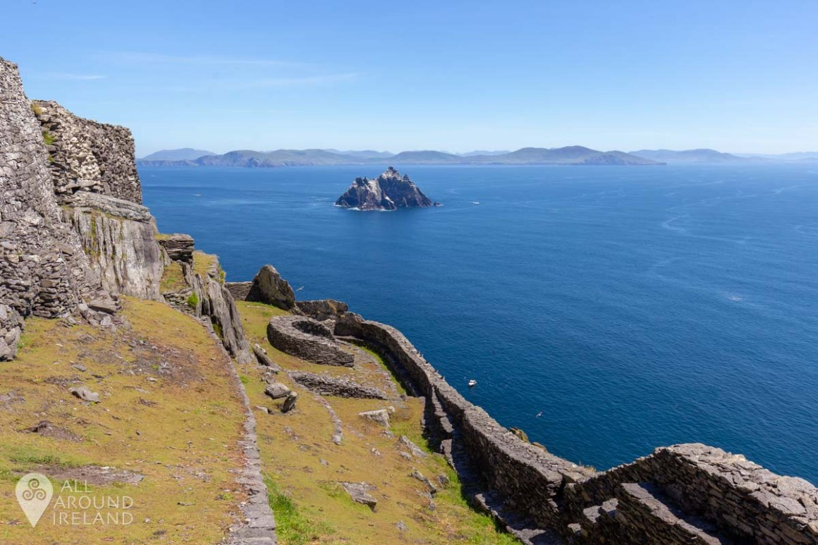 Stunning views from the top of Skellig Michael and across to Little Skellig.
