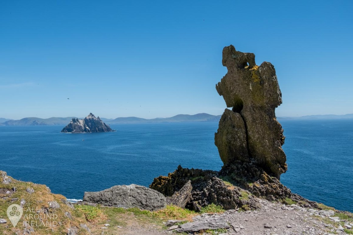 The Wailing Woman rock on Skellig Michael.