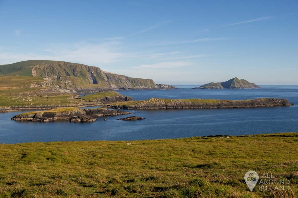Looking towards the Kerry Cliffs and Puffin Island.