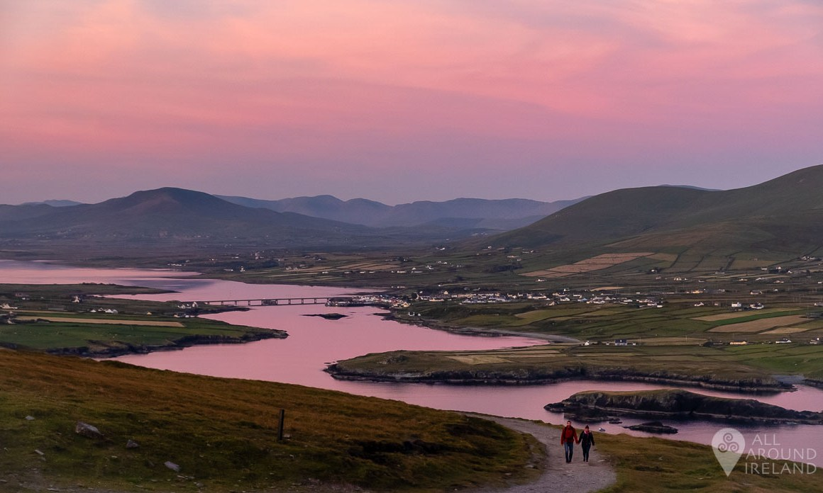 Beautiful pink skies over Portmagee