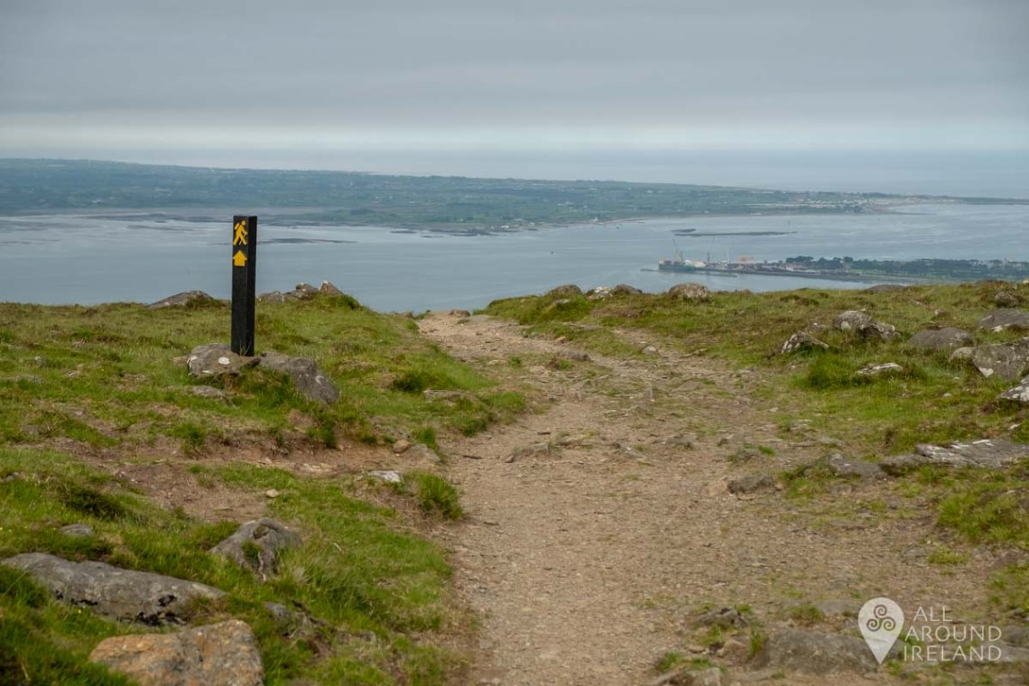 From the pass you can start to see the views out to Carlingford Lough and beyond.