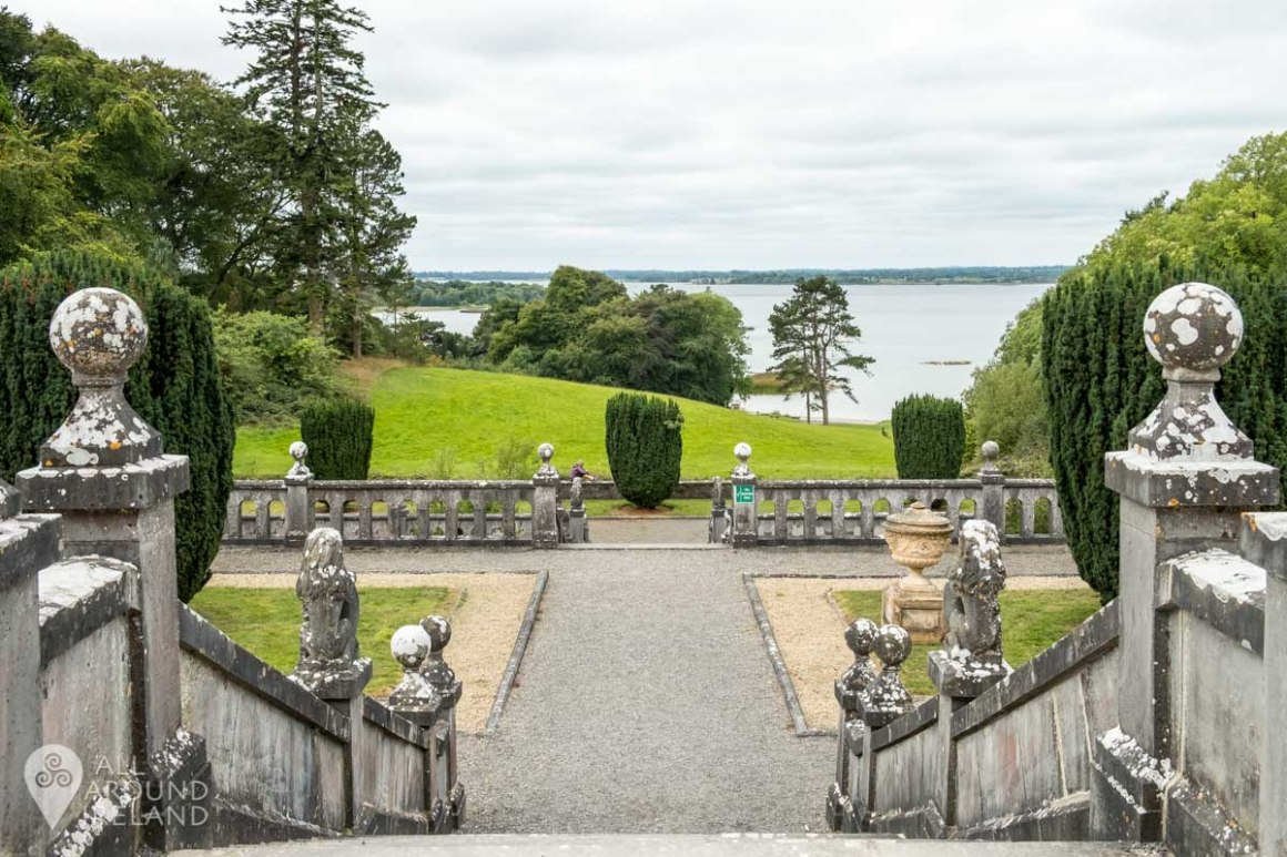 View of Lough Ennell from the terrace of Belvedere House.