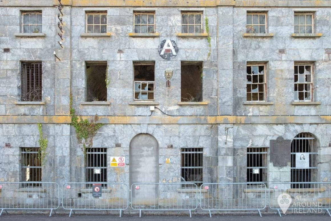 A Block which was destroyed in the 1985 riot on Spike Island