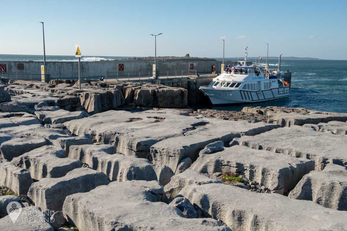The ferry waiting for passengers at Doolin Pier