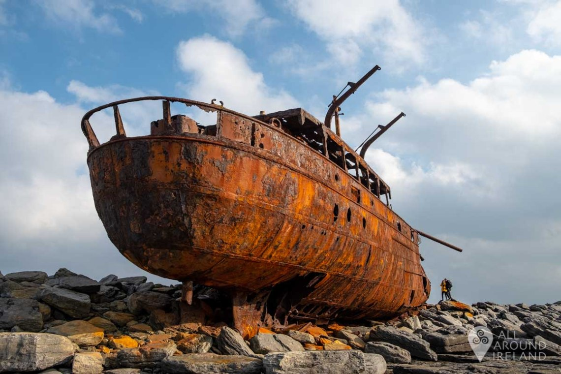 The MV Plassy or Plassey Shipwreck on Inis Oirr