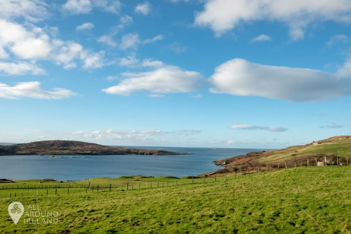 Looking out to Clifden Bay from the pathway