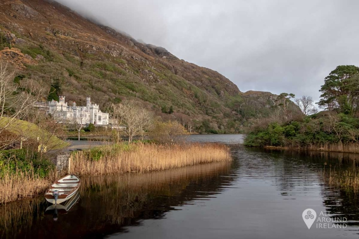 Looking across to Kylemore Abbey from the parking area