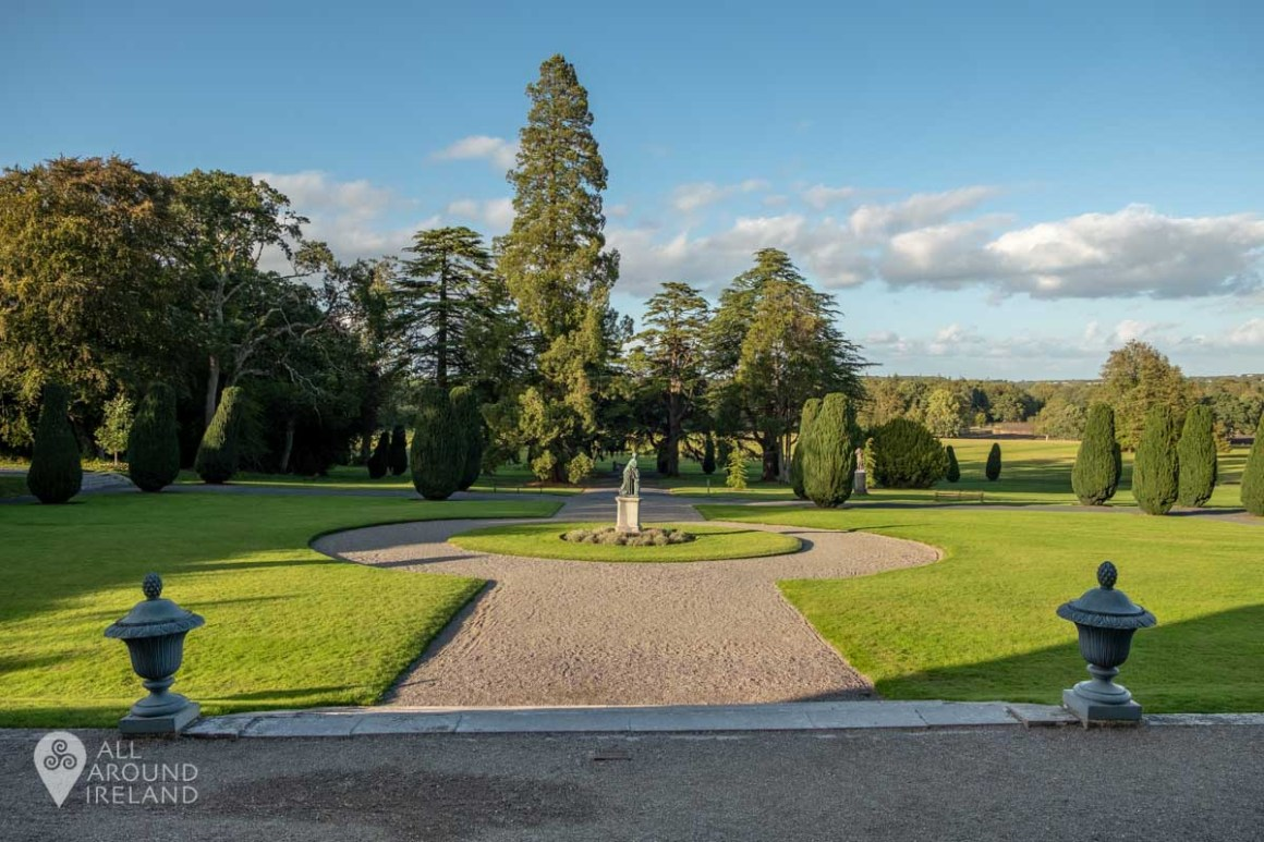 The gardens at the rear of Emo Court
