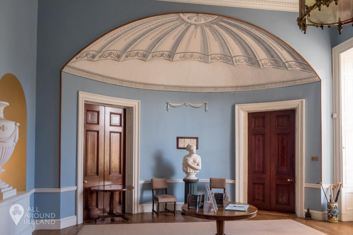 The reception area on entering Emo Court.