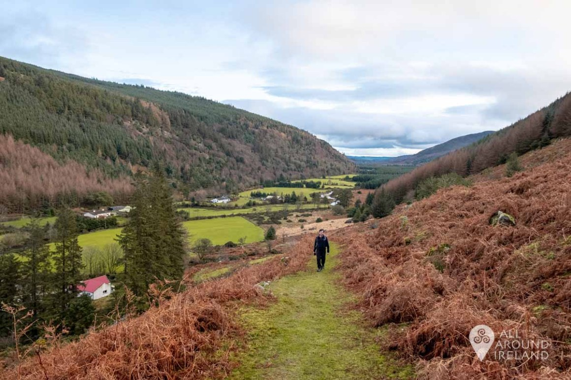 Stunning views down into Glenmalure Valley as we climbed the Zig-Zags.