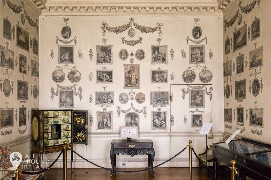The Print Room at Castletown with images covering the entire walls.