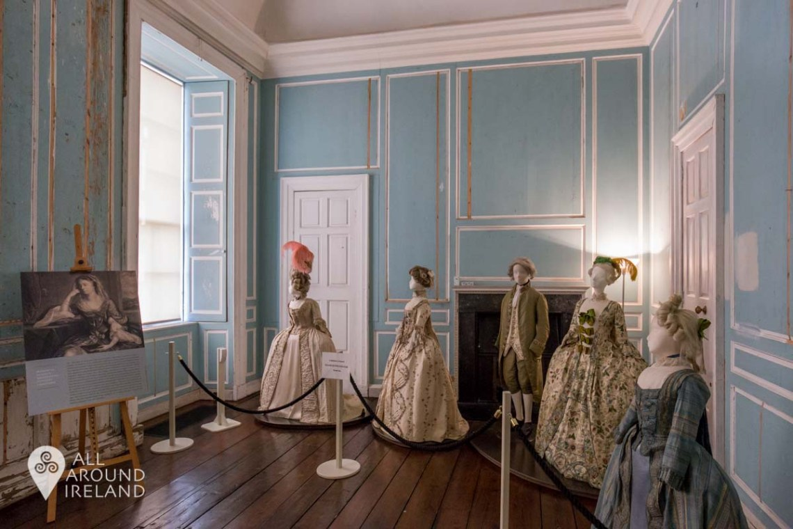 18th century gowns on display in Lady Kildare's Room