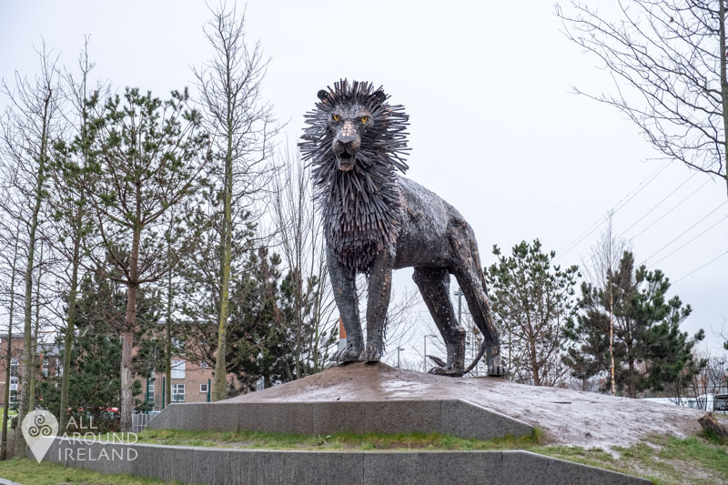 Sculpture of Aslan from the Lion, the Witch and the Wardrobe at CS Lewis Square