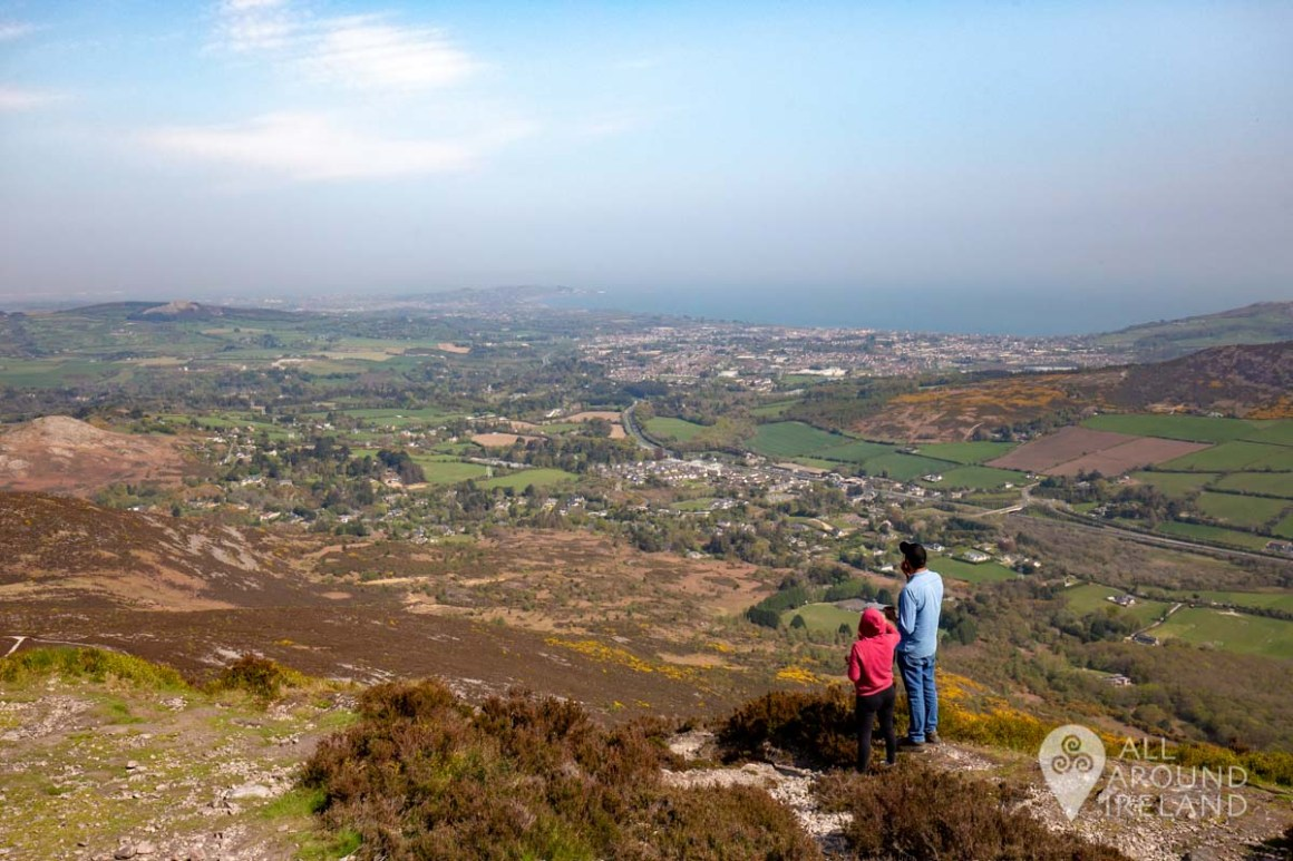 A couple taking in the views from the Sugar Loaf summit