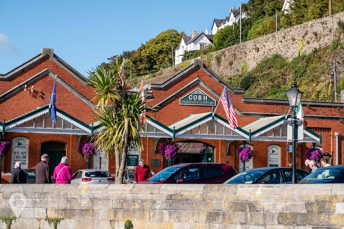 The old red brick Victorian Railway building in Cobh which now houses Cobh Heritage Centre