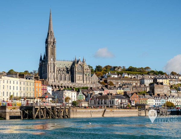 It's well worth seeing Cobh from the water if possible. St Colman's Cathedral rises high above the coloured houses and buildings.