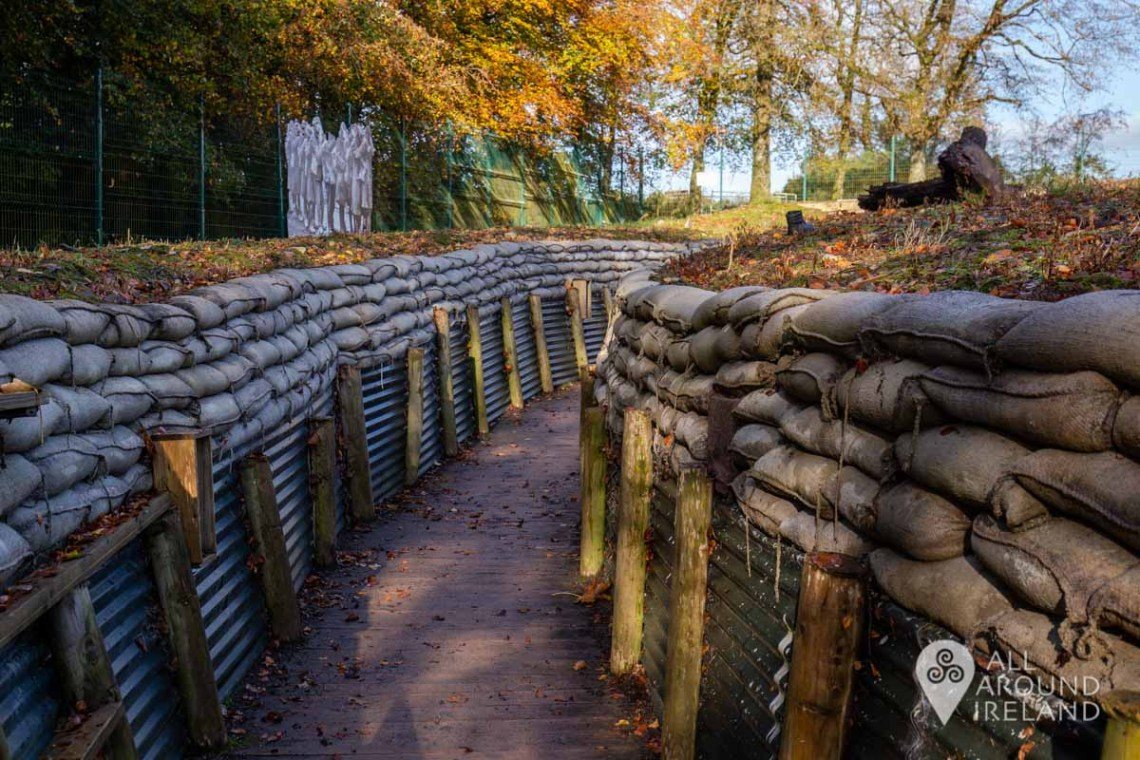 World War One replica trench at Cavan County Museum - Unique things to do in Ireland
