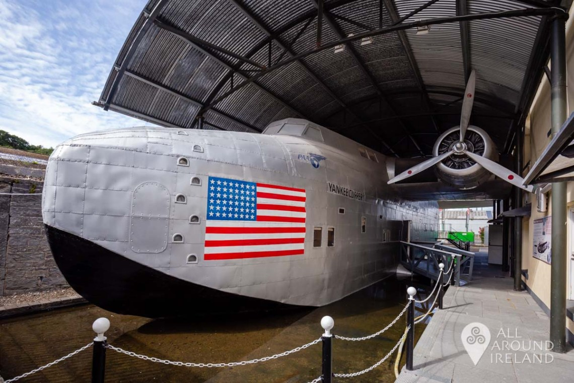 Replica B314 flying boat at Foynes Flying Boat Museum - unique thing to do in Ireland