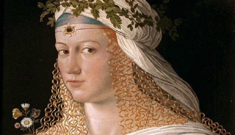 Bildresultat för ritratto di lucrezia borgia bartolomeo veneto