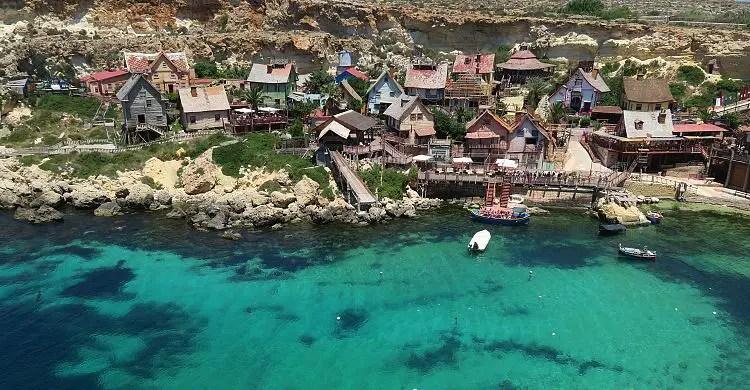 Das Wetter im Popeye Village auf Malta im Mai.