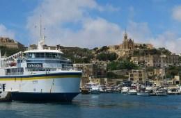 Eine Sehenswürdigkeiten auf Gozo ist der Hafen in Mgarr, in dem alle Schiffe aus Malta ankommen.