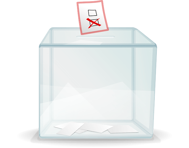 Transparent voting box