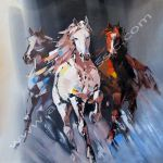 Cheap Paintings For Sale Running Horses Abstract Art