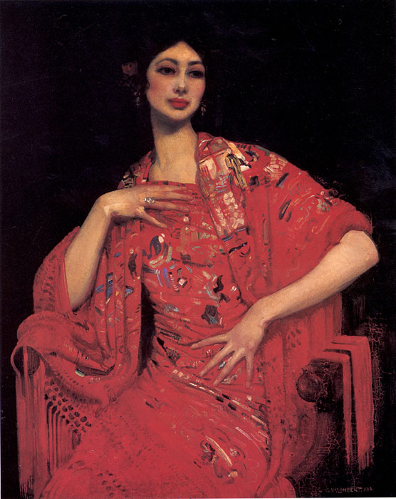 Paintings Reproductions Lambert, George The Red Shawl, 1913