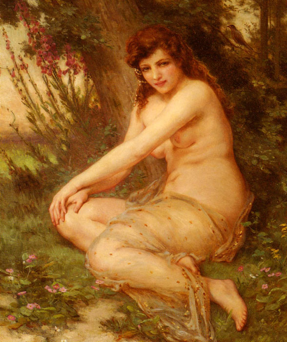 Paintings Reproductions Seignac, Guillaume La Nymphe De Foret [The Forest Nymph]