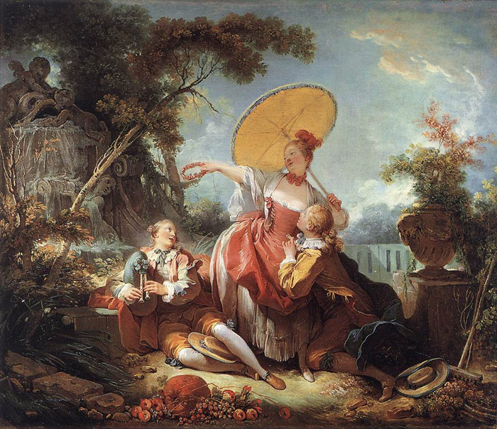 The Musical Contest  c 1754   Oil Painting Reproduction Fragonard Paintings