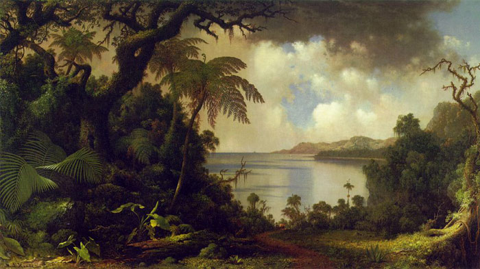 Paintings Reproductions Heade, Martin Johnson View from Fern Tree Walk, Jamaica, c.1870
