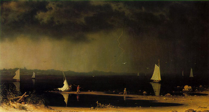 Paintings Reproductions Heade, Martin Johnson Thunder Storm on Narragansett Bay, 1868