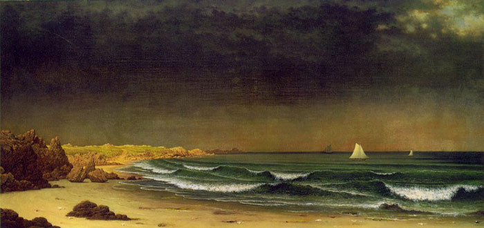 Paintings Reproductions Heade, Martin Johnson Approaching Storm, Beach Near Newport, c.1866-1867