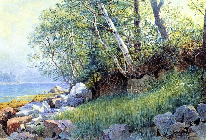 Paintings Reproductions Haseltine, William Stanley North East Harbor, Maine, 1895